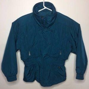CB Sports VTG Women Size 10 Blue/Green Ski Jacket